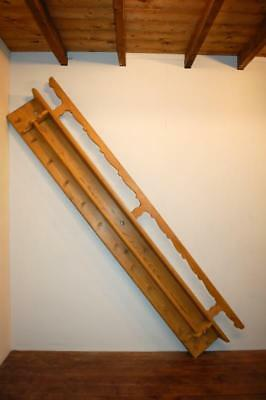 Antique Farmhouse Rustic Pine Wall Shelf With Pegs / Hat - Coat - Herb Rack