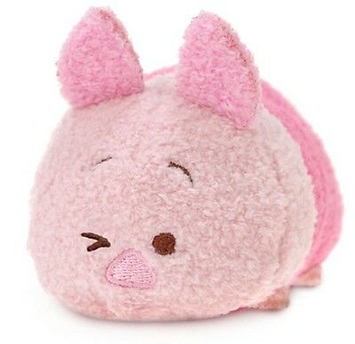 "Disney Store Tsum Mini 3.5"" Piglet Pig Pink Winnie The Pooh Toy Authentic Nwt"