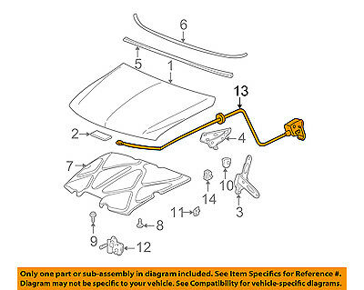 Chevrolet GM OEM 11-15 Cruze Hood-Release Cable 96994962