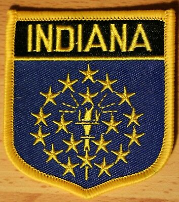 INDIANA IN US State USA Shield Country Flag Embroidered PATCH Badge P1