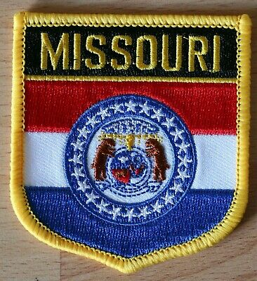 MISSOURI MO US State USA Shield Country Flag Embroidered PATCH Badge P1
