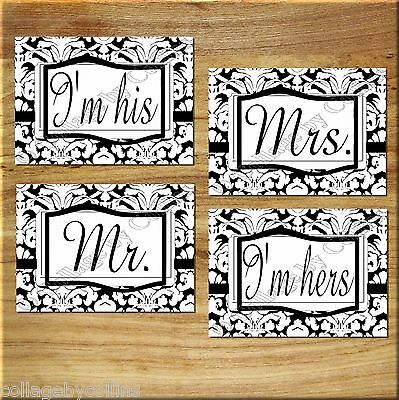 White Black Wall Art Picture Prints Mr Mrs Wedding Bedroom Bathroom Gift Decor