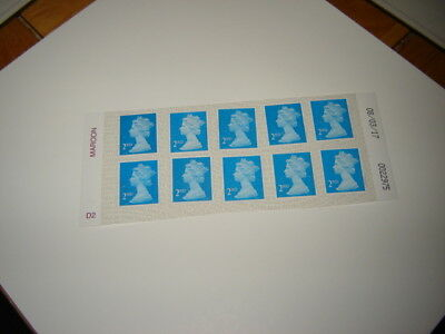 10 2Nd Class Blue Stamps On Post Office Peel And Stick  Paper