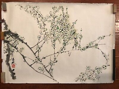 Lot of 3 Vintage Chinese Watercolor Painting Scrolls by 區靜璇 Suzanne Chan