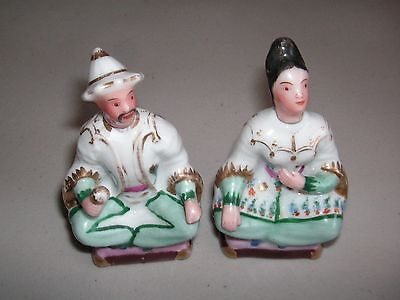 Vintage Porcelain Man & Woman Perfume Scent Bottles - Matching Pair