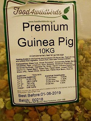 Guinea pig food 10kg. Bag unopened.