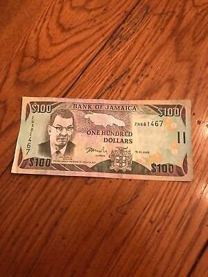 jamaica bank note $100