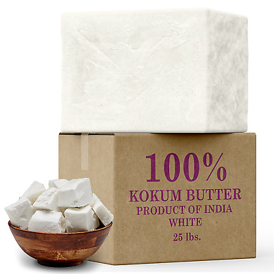 Raw Kokum Butter Cold Pressed 100% Pure Organic Natural 1 oz. to 55 lbs. Bulk