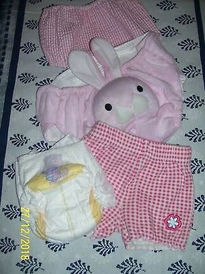 Reborn Baby Doll Clothes, 3- Panties, &  Nappy.  Size 000- 00.  New!