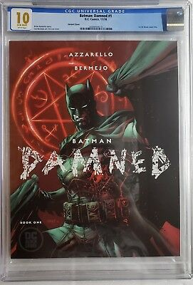Batman Damned 1 Cgc 10.0 Lee Variant Uncensored 🍆1St Black Label Dc Not 9.8 9.9