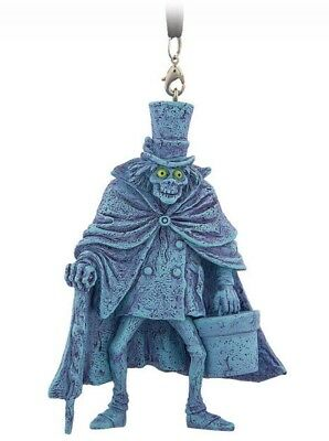 "Disney 4"" Figural Ornament Hatbox Ghost Haunted Mansion Parks Authentic Nwt New"