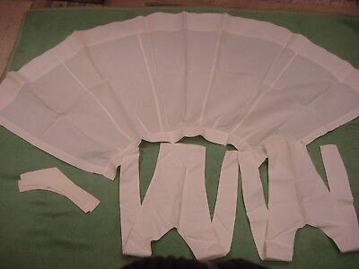 WWI UK Florence Nightingale era NURSE UNIFORM Bib & Apron, Cuffs STARCHED LINEN