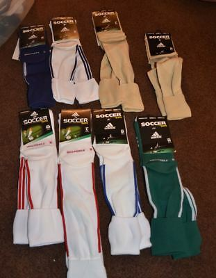 Adidas soccer elite formation climacool socks nwt beige green white blue stripes