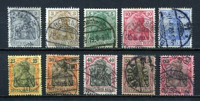 German Reich : Complete Germania set from 1902 - used