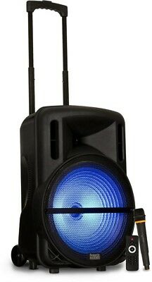 Acoustic Audio by Goldwood Battery Powered 15 in. Bluetooth LED Speaker and Mic