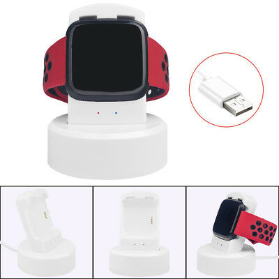 Charging Dock Watch USB Charger Portable Stand Adapter For Fitbit Versa QY
