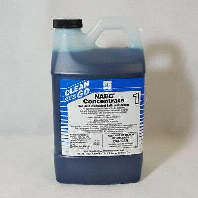 Spartan NABC Concentrate 1 Non-Acid Disinfectant Bathroom Cleaner 2 Liter