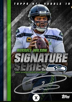 18-19 SIGNATURE SERIES RUSSELL WILSON BASE Topps Huddle Digital Card