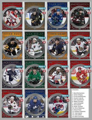 18-19 METALWORKS SET OF 15 RICHARDSON/RUST/SEELER/++++ Topps NHL Skate Digital