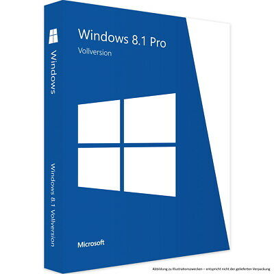 Microsoft Windows 8.1 Professional 32 / 64bit deutsche Vollversion Download 1PC