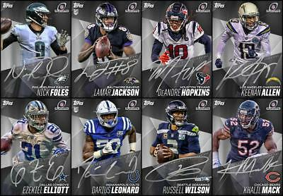 Topps HUDDLE PLAYOFF SIGNATURE SERIES 2019 [8 CARD Wave 1 Silver SET] Elliott+++