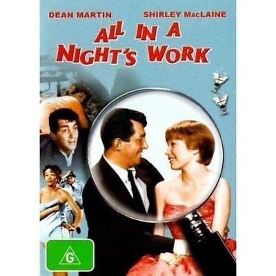 All In A Night's Work Dvd=Dean Martin=Region 4 Australian Release=New And Sealed