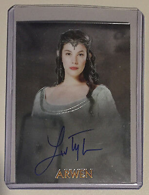 Lord of the Rings Trilogy Chrome Autograph - Arwen - Liv Tyler