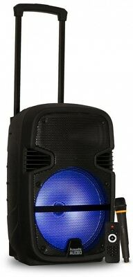 Acoustic Audio by Goldwood Battery Powered 12 in. Bluetooth LED Speaker and Mic