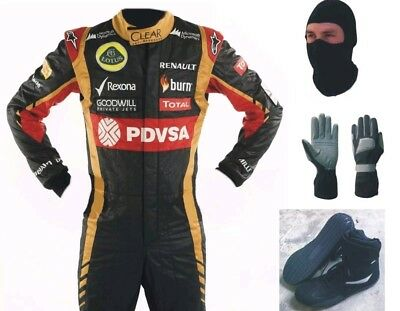 Go Kart Racing Suit -Cik Fia Level Ii With Shoes Gloves And Balaclava