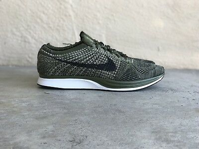 0a64cc4bb825 NIKE FLYKNIT RACER EARTH TONES ROUGH GREEN OLIVE 862713 300 Size 11 (wmns  12.5)