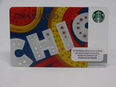 """2013 """"Chicago Theatre"""" Starbucks Card - New & Never Swiped - Pin Intact"""