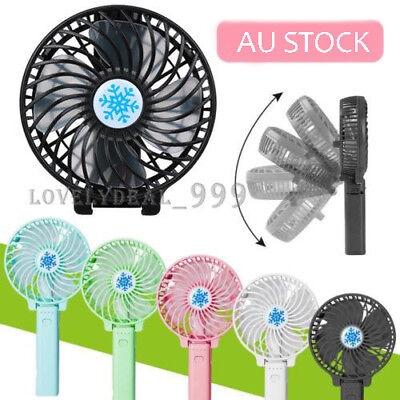 Mini Portable Pocket Fan Cool Air Hand Held Cooler Usb Rechargeable Electric Au