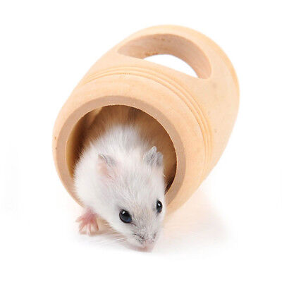Hamsters Barrel Toy Tunnel Animal Play Pet Safety House 8.3*5.5cm Supplies Bed