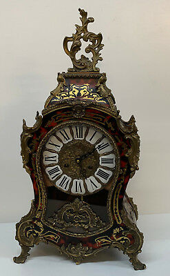 19th Century French Red Boulle Louis XV Style Clock Mantle Bracket Large inlaid