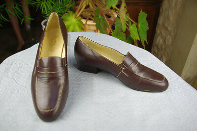 Shoes DAMART Leather Baby goat Brown T 41 / 41,5 TOP CONDITION
