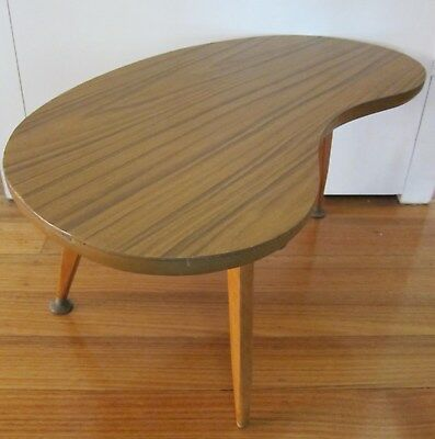 Retro Vintage Mid Century Kidney Shaped Laminated Table with Atomic legs