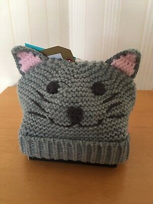JOULES BABY BABIES HAT CAT KITTEN CHUMMY DESIGN FULLY LINED BNWT Age 6-12 Month