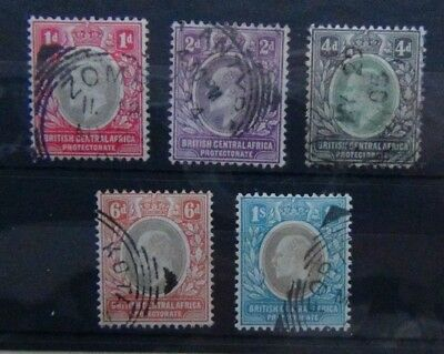 British Central Africa 1903 - 1904 values to 1s Fine Used