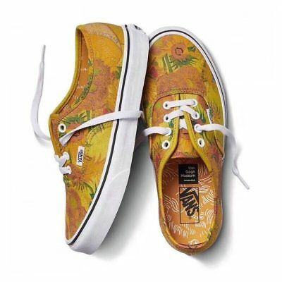 NEW Vans Shoe Limited Vincent VAN GOGH Authentic white Sunflowers Shoe Sneakers