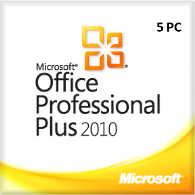 MS Office 2010 Professional Plus (1-5 PC) 32&64 Bits ESD per E-Mail