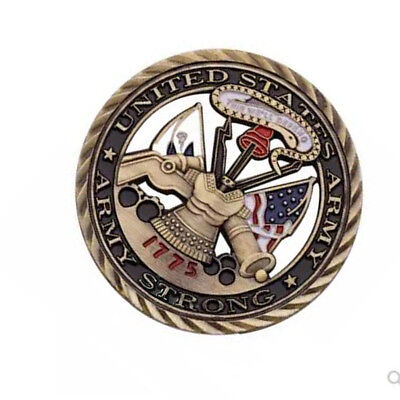 1775 U.S. Army Core Values Military Hollowed Out Commemorative Challenge Coin