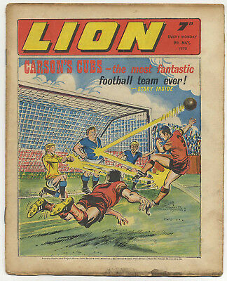 Lion 9th May 1970 (high grade) Robot Archie, Spellbinder, Paddy Payne