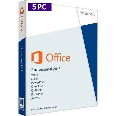 MS Office 2013 Professional Plus (1-5 PC) 32&64 Bits ESD per E-Mail