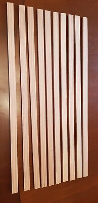 12x5mm strips of modelling wood