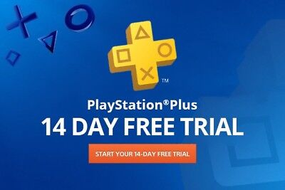 PSN PLUS 14 DAY TRIAL - PS4 - PS3 - PS Vita - PLAYSTATION