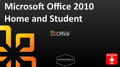 Microsoft Office 2010 Home and Student (Word, Excel, PowerPoint ..) Vollversion