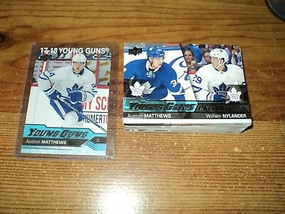 2016-17 Ud Series#1 Complete Set Of Young Guns #201-#250, Auston Matthews Wow!