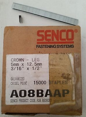 to fit Senco SFT10XP-AB Senco B04BAAP 6mm length 12.7mm Crown Galv Staples