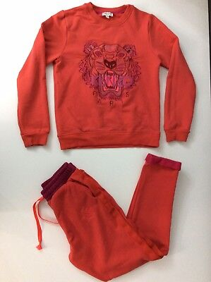 df1d059f5 Kenzo Kids Tracksuit, Tiger Face Age 12a 152 Cm, Red, Jumper & Bottoms
