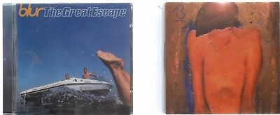 2 x Blur CDs -  The Great Escape (1995) / 13 (1999) - UK POST FREE